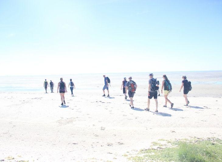 Backpacken in Nederland - Wadlopen Ameland - Waddenhop