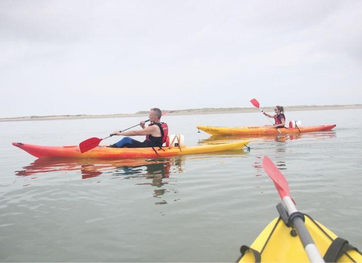 Groepsreis waddeneilanden - leeftijdsgenoten kano - Waddenhop
