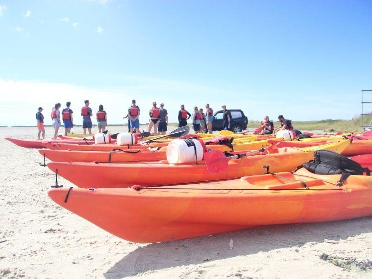 Groepsreizen Waddeneilanden - groepsreis kano - Waddenhop